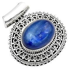 10.98cts natural blue kyanite 925 sterling silver pendant jewelry p86704