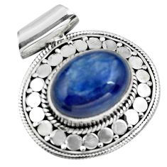 10.84cts natural blue kyanite 925 sterling silver pendant jewelry p86713