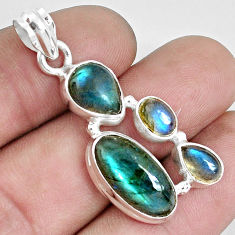 12.34cts natural blue labradorite 925 sterling silver pendant jewelry p33825