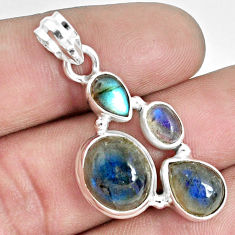 11.02cts natural blue labradorite 925 sterling silver pendant jewelry p33838
