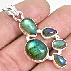 10.85cts natural blue labradorite 925 sterling silver pendant jewelry p33878