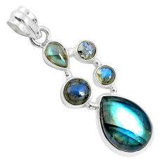 13.05cts natural blue labradorite 925 sterling silver pendant jewelry p33965