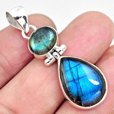 15.08cts natural blue labradorite 925 sterling silver pendant jewelry p87707
