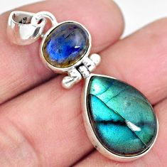 15.72cts natural blue labradorite 925 sterling silver pendant jewelry p87717