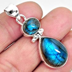 17.22cts natural blue labradorite 925 sterling silver pendant jewelry p87720