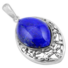 8.84cts natural blue lapis lazuli 925 sterling silver pendant jewelry c4830