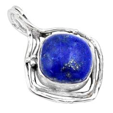 13.85cts natural blue lapis lazuli 925 sterling silver pendant jewelry p80911