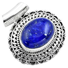 10.00cts natural blue lapis lazuli 925 sterling silver pendant jewelry p86645