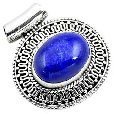 10.44cts natural blue lapis lazuli 925 sterling silver pendant jewelry p86648
