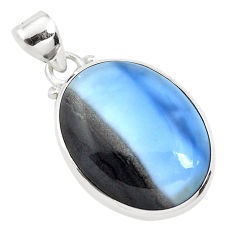16.20cts natural blue owyhee opal 925 sterling silver pendant jewelry p40972