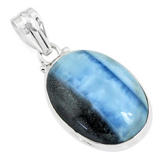 17.73cts natural blue owyhee opal 925 sterling silver pendant jewelry p46164