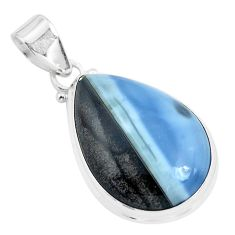 17.57cts natural blue owyhee opal 925 sterling silver pendant jewelry p46166