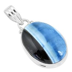 14.72cts natural blue owyhee opal 925 sterling silver pendant jewelry p46179