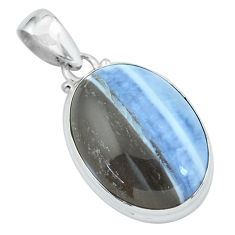 17.22cts natural blue owyhee opal 925 sterling silver pendant jewelry p59605