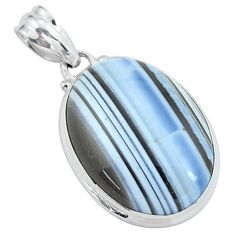 19.23cts natural blue owyhee opal 925 sterling silver pendant jewelry p59606