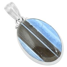 18.15cts natural blue owyhee opal 925 sterling silver pendant jewelry p59610