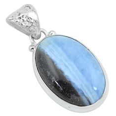 16.73cts natural blue owyhee opal 925 sterling silver pendant jewelry p59612