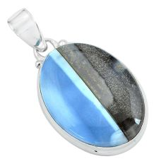 17.57cts natural blue owyhee opal 925 sterling silver pendant jewelry p59616