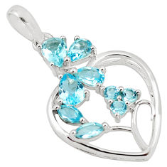 7.50cts natural blue topaz 925 sterling silver pendant jewelry p82055