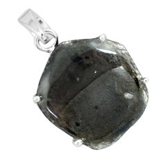 16.49cts natural brown agni manitite 925 sterling silver pendant jewelry p68633