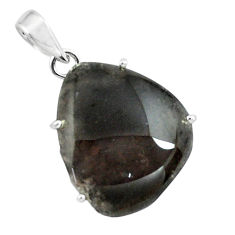 19.29cts natural brown agni manitite 925 sterling silver pendant jewelry p68643