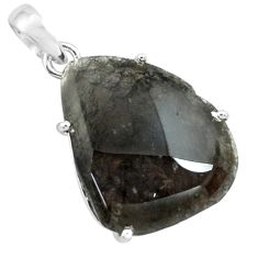 16.88cts natural brown agni manitite 925 sterling silver pendant jewelry p68645