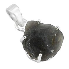 11.93cts natural brown chintamani saffordite 925 sterling silver pendant p68739
