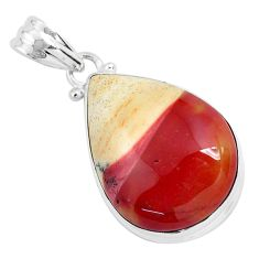 19.23cts natural brown mookaite 925 sterling silver pendant jewelry p46289