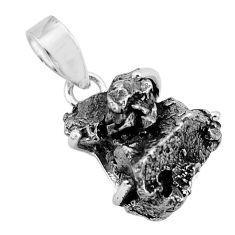 22.09cts natural campo del cielo (meteorite) 925 sterling silver pendant p68989