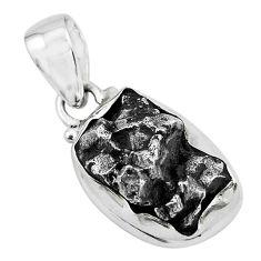 23.74cts natural campo del cielo (meteorite) 925 sterling silver pendant p69291