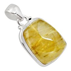 27.13cts natural golden rutile 925 sterling silver pendant jewelry p89098