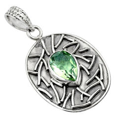 4.38cts natural green amethyst 925 sterling silver pendant jewelry p78463