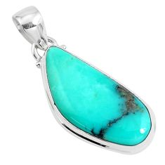 15.05cts natural green campitos turquoise 925 silver pendant jewelry p46466