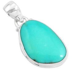 14.23cts natural green campitos turquoise 925 sterling silver pendant p46448