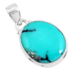 14.72cts natural green campitos turquoise 925 sterling silver pendant p46476