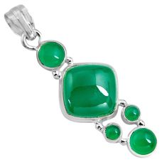 16.46cts natural green chalcedony 925 sterling silver pendant jewelry p89235