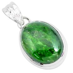 17.57cts natural green chrome diopside 925 sterling silver pendant p47208