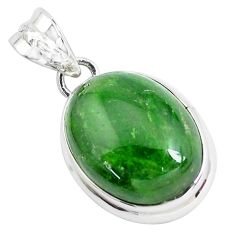 19.07cts natural green chrome diopside 925 sterling silver pendant p47219