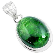 18.10cts natural green chrome diopside 925 sterling silver pendant p47220