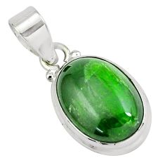 13.70cts natural green chrome diopside 925 sterling silver pendant p65803