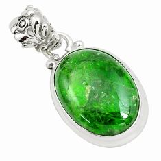 16.73cts natural green chrome diopside 925 sterling silver pendant p65812