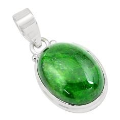 17.22cts natural green chrome diopside 925 sterling silver pendant p65817