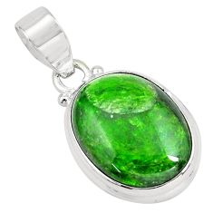 16.73cts natural green chrome diopside 925 sterling silver pendant p65818