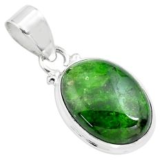 13.70cts natural green chrome diopside 925 sterling silver pendant p71966