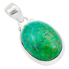 14.52cts natural green chrysocolla 925 sterling silver pendant jewelry p57987