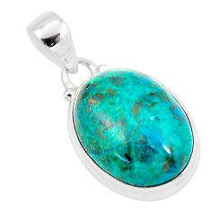 15.08cts natural green chrysocolla 925 sterling silver pendant jewelry p57998
