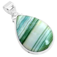 17.55cts natural green opal 925 sterling silver pendant jewelry p42971