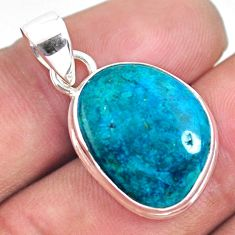 9.72cts natural green opaline 925 sterling silver pendant jewelry p57971