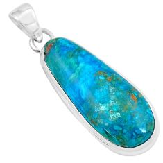 17.57cts natural green opaline 925 sterling silver pendant jewelry p59376