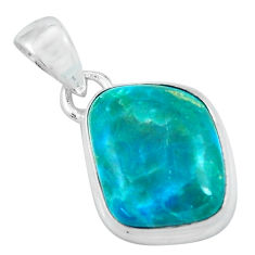 9.86cts natural green opaline 925 sterling silver pendant jewelry p59859